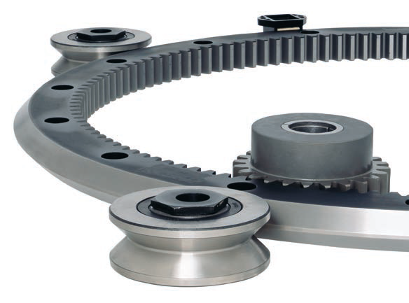 Heavy Duty Vee Rings An Alternative To Slewing Bearings